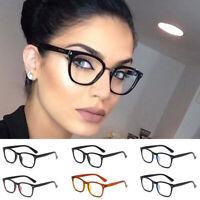 Women Men Clear Lens Square Eye Glasses Large Oversized Plastic Frame Nerd