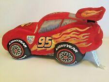 "Pixar Cars 2 Lightning McQueen 13"" Stuffed Plush (Piston Cup) Toy Car - Disney"