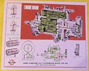 Affiche Ecole Print Pompe d'injection C.A.V. Distributeur Rotatif type DPA, R.M