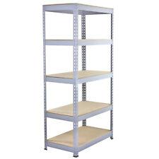 Garage Shelves Shelving Unit Racking Boltless Heavy Duty Storage Shelf Grey 90cm