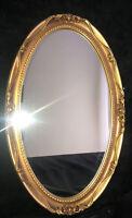 "Vintage J.A. Olson Company Permaflect Large Ornate Gold Mirror  Frame 31"" x 19"""
