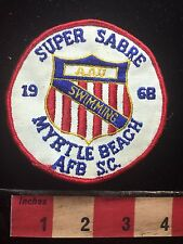 Vtg 1968 Super Sabre MYRTLE BEACH AFB AIr Force Base SOUTH CAROLINA Patch C71J