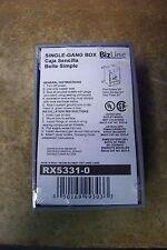 "NEW Bizline RX5331-0 1-Gang Box 2"" Deep"