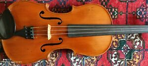 Old violin ,Cased, With Bow.