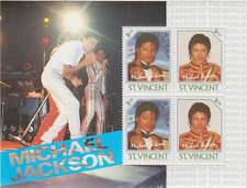 Michael Jackson Timbre Feuillet Timbres ST VINCENT Sheet Stamp Stamps Set 1985