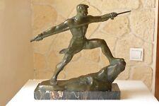 Lanceur de javelot en bronze G.Gori, Marcel GUILLEMARD n°1 vers 1930 ref 782