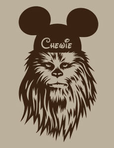 Chewbacca Mickey Ears DISNEY STAR WARS shirt family vacation Chewie Men's Mens