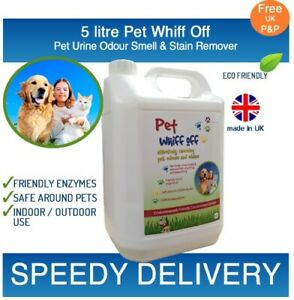Pet Whiff Off Dog & Cat Urine & Odour Remover 5 litre - Artificial Grass Cleaner
