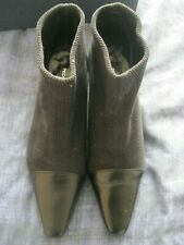 LADIES PEDRO MIRALLES BLACK CORD / LEATHER ANKLE BOOTS.  Size 5.