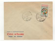 Côte d'Ivoire 1 timbre sur lettre FDC 1960 tampon Abidjan /L526