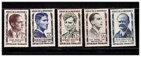 s23358) FRANCE MNH** 1957 Heroes of resistance 5v