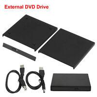 Laptop External SATA TO USB 2.0 CD DVD RW ROM Portable Drive Enclosure Case ZV