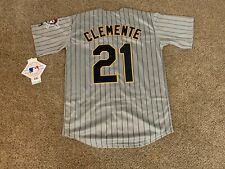 New!! Roberto Clemente #21 Pittsburgh Pirates Gray Pinstripe Jersey 2XL (52)