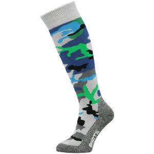 Barts Camo Kids Ski Socks, Blue
