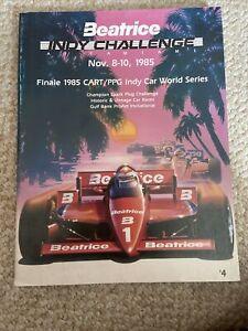 1985 Beatrice Indy Challenge At Tamiami Cart/Indycar Racing Program