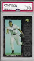 1994 Upper Deck Alex Rodriguez #24 PSA Near Mint 8 OC Seattle Mariners MLB