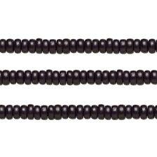 Wood Rondelle Beads Black 8x4mm 16 Inch Strand
