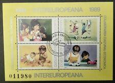 ROMANIA-RUMUNIA STAMPS - INTEREUROPEANA - Children's Games, 1989, used