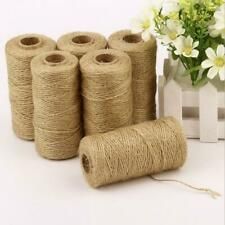 1 Roll Of 100M 2mm Brown Jute Rope Cord String Craft DIY Making Accessories