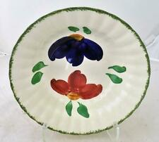 """Antique Blue Ridge Pottery 9.5"""" Serving Bowl Hand Painted  Opposites Pattern"""