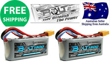 2pack Turnigy BOLT1300mAh 3S 65~130C LiHV 11.4v Lipo XT60 Battery RC Plane Drone