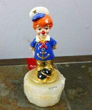 Vintage 1993 Ron Lee Signed Sailor Anchor Clown On Marble Sculpture With Tag