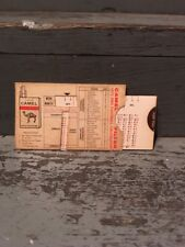 """CAMEL CIGARETTES """"1971 PRO FOOTBALL CALCULATOR"""" NFL SCHEDULE (NICE CONDITION)"""