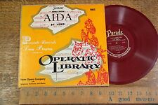 "33 LP 10"" 1950s Aida (Verdi) State Opera Co with Chorus PARADE RED V+"