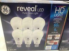 GE HD+ Reveal 60 Watt Replacement LED !A19 Light Bulbs-6 Pack