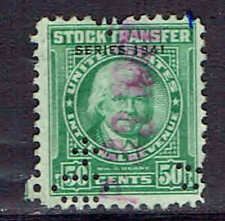 #RD102    50  CENTS  STOCK TRANSFER  REVENUE STAMP         USED      e