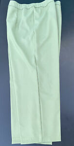 Vtg Levi Bend Over Pants Trousers Polyester Retro Wide Leg Flat Front Pink 16