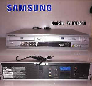 VIDEOREGISTRATORE VHS COMBO SAMSUNG SV-DVD 540 FUNZIONANTE LETTORE DVD/VHS