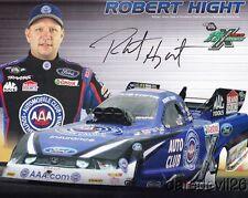 2012 Robert Hight signed AAA Ford Mustang Funny Car NHRA postcard