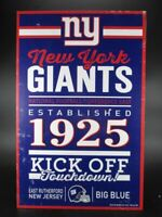 New York Giants Holzschild 43 cm NFL Football,Established Wood Sign