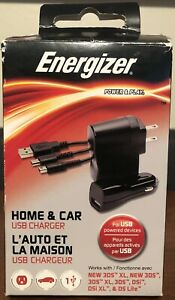 Energizer Power & Play Home & Car USB Charger New 3DS XL, New 3DS, DSi, DSi XL