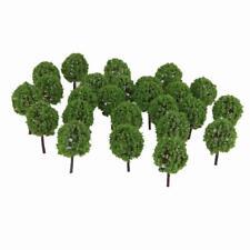 30x Green Model Trees Toy Train Railroad Garden Scenery DIY Toy 1:100 Scale