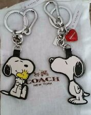 NWT COACH X PEANUTS SNOOPY Woodstock  ONLY      Key Chain Ring Charm