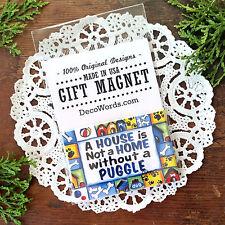 "DecoWords 2""x3"" Puggle Fridge Magnet dog breeds pug beagle mix dogs gift Usa"