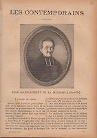 Jean-Marie de La Mennais France JOURNAL COMPLET 16 PAGES 1893