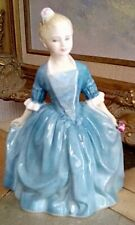 """Royal Doulton Girl Figurine, 1963, A Child From Williamsburg, Hn 2154, 6"""" X 3"""""""