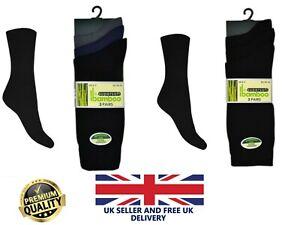 New 3 Pack Men's Plain Super Soft Bamboo Blend Thin Lightweight Summer Socks