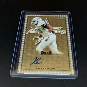 2020 Xavier Carlton Leaf All American Metal Superfractor Proof Auto #1/1 Utah