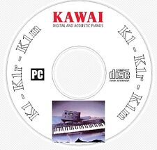 Kawai K1, K1r, K1m Sound / Patch Library, Manual MIDI Software & Editors CD  K 1