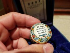 """Halcyon Days Enamel Box - """"Mothers are the best thing ever invented"""" - Mib"""