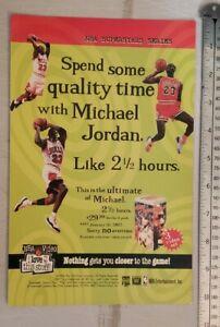Michael Jordan NBA Video RARE Print Advertisement