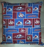 Avalanche Pillow Colorado Avalanche Pillow NHL Handmade in USA