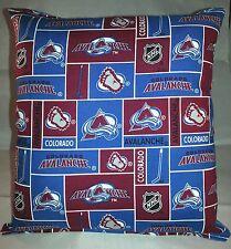 Avalanche Pillow Colorado Avalanche Pillow NHL Handmade in USA