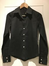 Theory Stretch Cotton Long Sleeved Button Down Shirt Larissa P Petite XS S Small