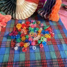 75 Vintage Retro Plastic Fairy Light Petals Flowers Light Shades Christmas Xmas