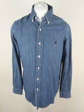 Mens Ralph Lauren Denim Shirt Blue Light Denim Medium 42 To 44 Chest